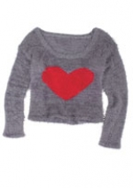 Heart sweater at Delias at Delias