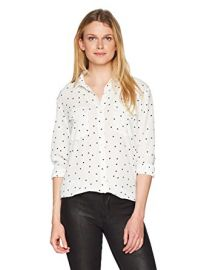 Hearts Print Button Down Blouse at Amazon
