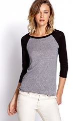 Heathered Baseball Tee at Forever 21