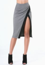 Heathered Colorblock Skirt at Bebe