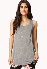 Heathered Racerback Tank at Forever 21