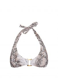 Heidi Klein Snake Print Bikini Top at Matches