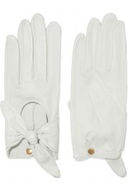 Helena bow-embellished leather gloves by Causse Gantier at The Outnet