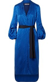Hellessy   Helga belted jacquard midi dress at Net A Porter