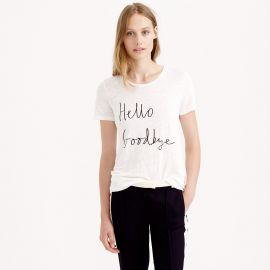 Hello Goodbye Tee at J. Crew