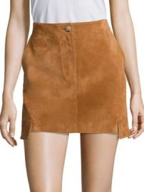 Helmut Lang - Cargo Suede Mini Skirt at Saks Fifth Avenue