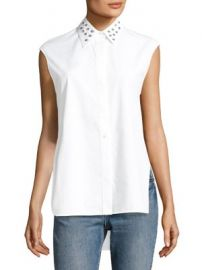 Helmut Lang - Eyelet Sleeveless Cotton Top at Saks Fifth Avenue
