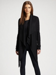 Helmut Lang - Sonar Belted Wool Jersey Cardigan at Saks Fifth Avenue
