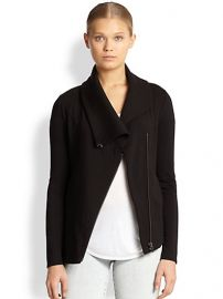 Helmut Lang - Villous Asymmetrical Stretch Knit Jacket at Saks Fifth Avenue