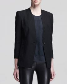 Helmut Lang Ark Single-Button Suiting Blazer at Neiman Marcus