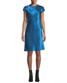 Helmut Lang Cap-Sleeve Viscose Short Dress at Neiman Marcus