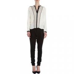 Helmut Lang Contrast Trimmed Blouse at Barneys