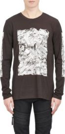 Helmut Lang Crumpled Print Long-Sleeve T-shirt at Barneys