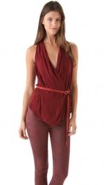 Helmut Lang Delta wrap blouse at Shopbop at Shopbop