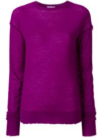 Helmut Lang Distressed Effect Knitted Top at Farfetch