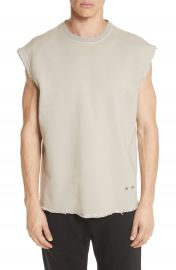 Helmut Lang Distressed Sleeveless T-Shirt at Nordstrom