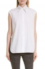 Helmut Lang Eyelet Cotton Poplin Shirt at Nordstrom