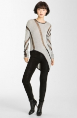 Helmut Lang Intarsia Asymmetrical Sweater at Nordstrom