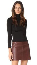 Helmut Lang Leather Neck Bondage Tee at Shopbop