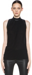 Helmut Lang Leather Turtleneck Top at Forward by Elyse Walker