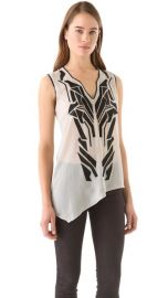 Helmut Lang Lyra Applique Top at Shopbop