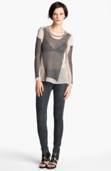 Helmut Lang Modern Lace Pullover at Nordstrom