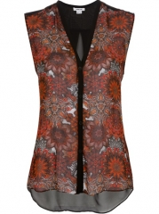 Helmut Lang Print Front Top - Genevieve at Farfetch