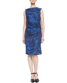 Helmut Lang Resid Printed Gathered Jersey Dress at Neiman Marcus