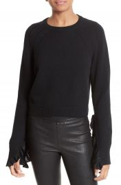 Helmut Lang Ruffle Crop Pullover at Nordstrom