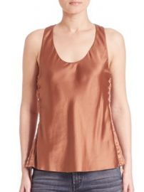 Helmut Lang-Silk Tank Top at Saks Fifth Avenue
