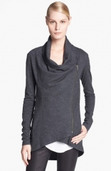 Helmut Lang Sonar Shawl Collar Wool Jacket in Grey at Nordstrom