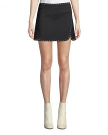 Helmut Lang Studded Side-Split Mini Skirt at Neiman Marcus