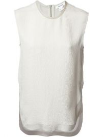 Helmut Lang Textured Sleeveless Blouse - Sn3 at Farfetch
