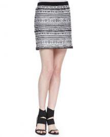 Helmut Lang Tweed Variant Grid Skirt at Neiman Marcus