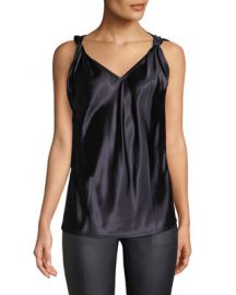 Helmut Lang Twisted Sleeveless V-Neck Top   Neiman Marcus at Neiman Marcus
