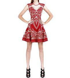 Henna Lace Jacquard Dress at RVN