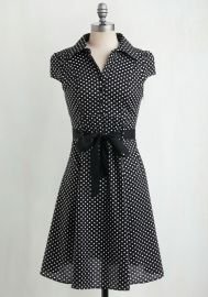 Hepcat Soda Fountain Dress in Black Licorice at ModCloth
