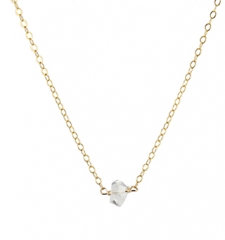 Herkimer Solitaire Necklace at Peggy Li