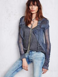 Hero Crane  Distressed Sweater Cardi at Free People