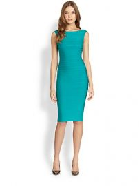 Herve Leger - Bateau Neck Dress at Saks Fifth Avenue