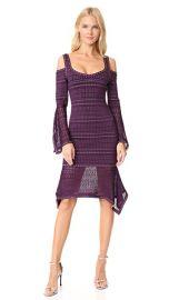 Herve Leger Cold Shoulder Ruffle Trim Dress at Shopbop