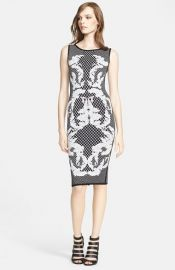Herve Leger Jacquard Tank Dress at Nordstrom