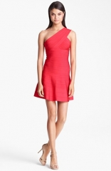 Herve Leger One Shoulder A-Line Dress at Nordstrom