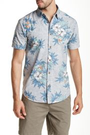 Hibiscus Premium Fit Shirt in Metal at Nordstrom Rack