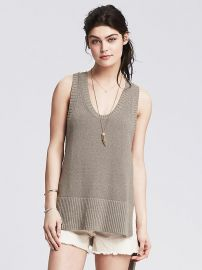 High Low Sweater Tank at Banana Republic
