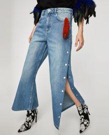 High Waist Culottes with Heart Applique by Zara at Zara