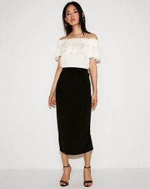 High Waisted Pencil Skirt at Express