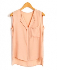 High low chiffon blouse at Chicnova