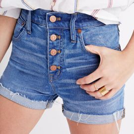 High-rise Denim Boyshorts Button-through Edition at Madewell