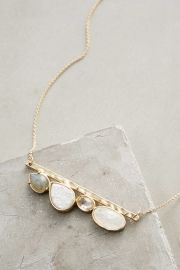 Hiley Bar Necklace in White at Anthropologie